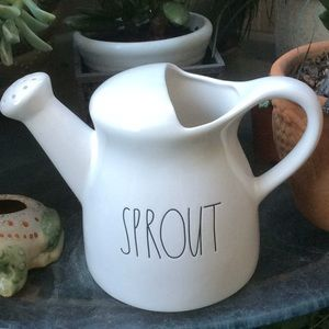 "RAE DUNN WATERING PITCHER ""SPROUT"" INSCRIBED  NWOT"